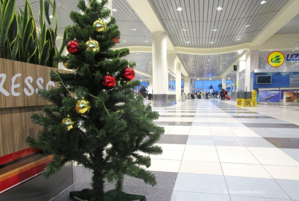 Аэропорт Домодедово. Ёлка