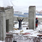 Стройка в аэропорту Домодедово