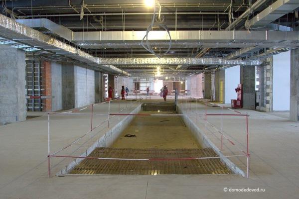 Строительство сегмента Т2 в аэропорту Домодедово