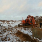 Сотрудники минэкологии и полицейские пресекли незаконную добычу песка в Домодедово