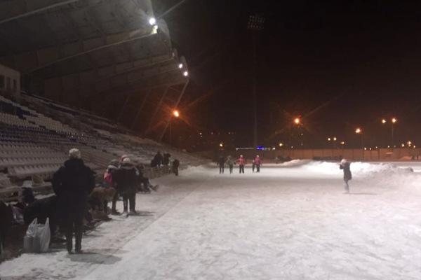 Каток на стадионе «Авангард»