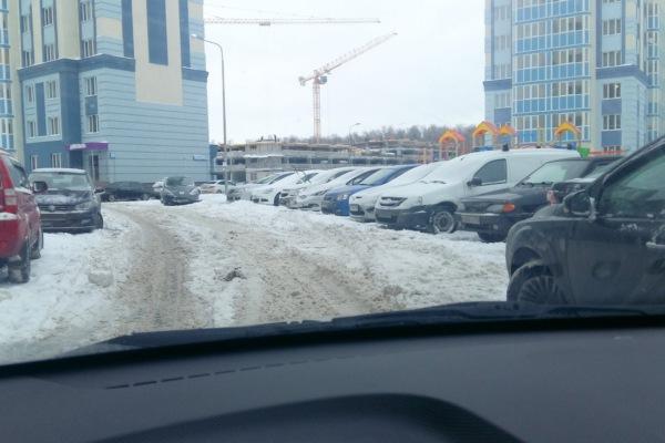 Новое Домодедово. Снег
