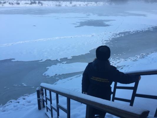 Госадмтехнадзор проверил подходы к местам крещенских купаний в Домодедово