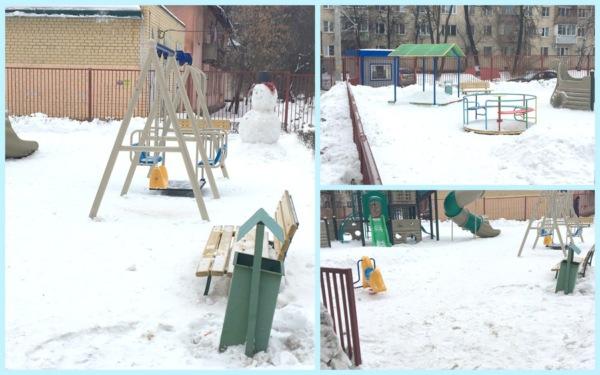 Госадмтехнадзор проверил уборку от снега детских площадок Домодедово