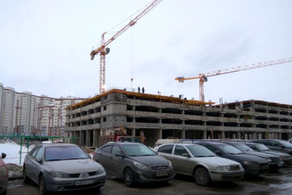 Строящаяся парковка в Новом Домодедово