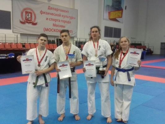 Юные домодедовцы в призерах Первенства Москвы по Киокусинкай каратэ