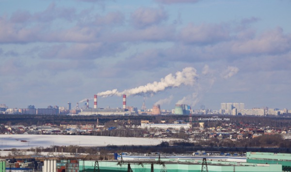 Виды Москвы с домодедовских крыш. МГУ