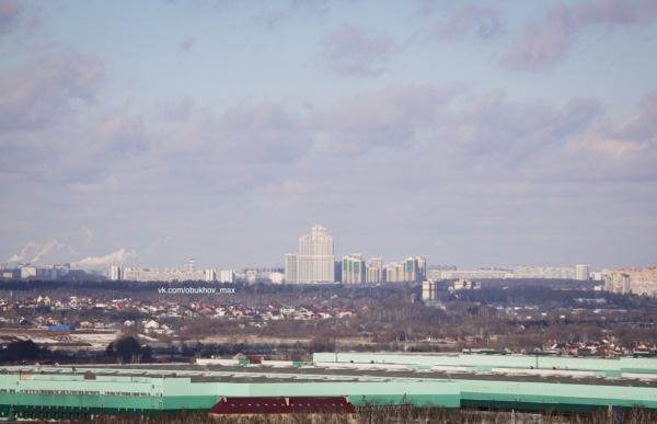 Виды Москвы с домодедовских крыш. ЖК Загорье
