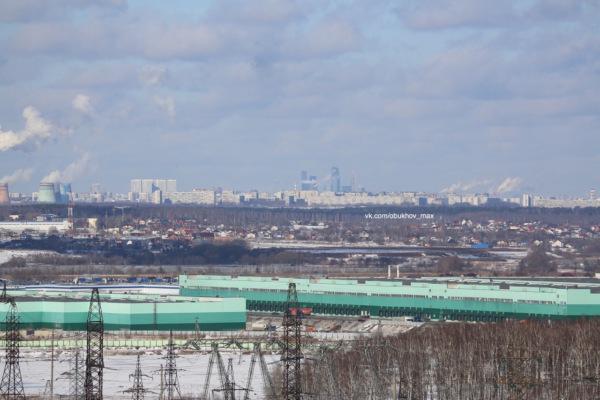 Виды Москвы с домодедовских крыш. Москва-Сити