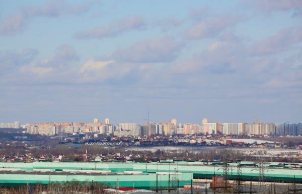 Виды Москвы с домодедовских крыш. Останкинская башня