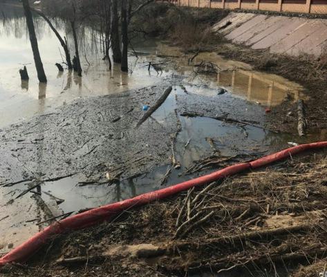 Минэкологии устанавливает виновника загрязнения нефтепродуктами пруда в Домодедово