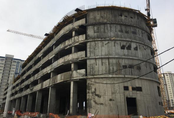 Строительство паркинга в Новом Домодедово