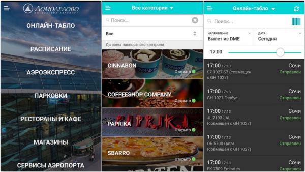 DME - мобильное приложение аэропорта Домодедово