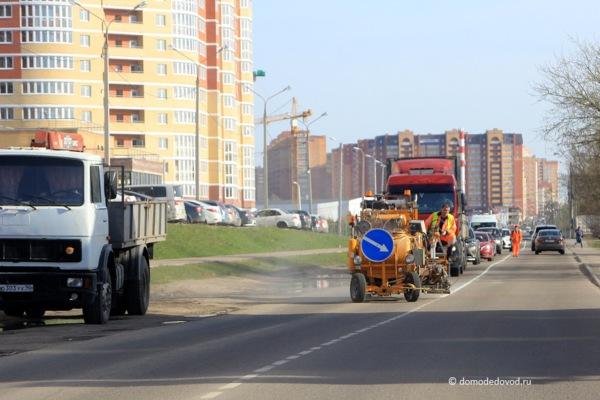 Новая дорожная разметка в Домодедово