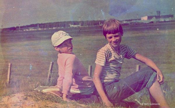 Вид с «горки» (Лямцино). Ту-144 на стоянке. 1980-1981г.