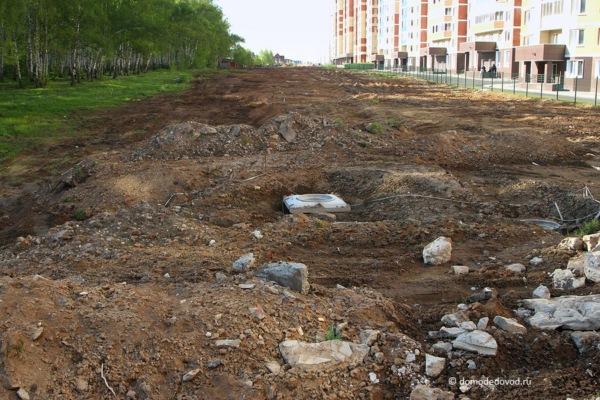 Улица Лунная. Строительство дороги под видом ремонта (1)