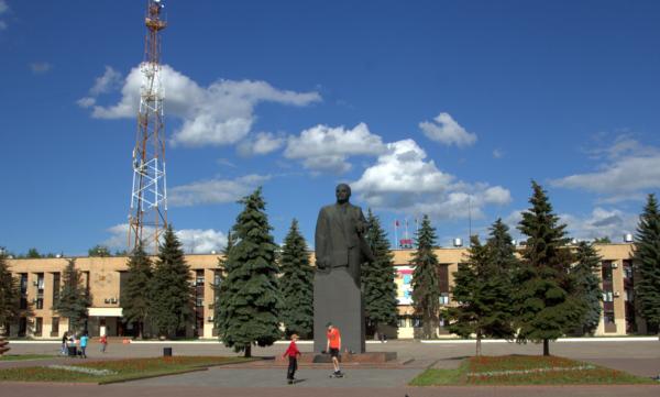 Домодедово. Вид площади 30-летия Победы в недавнем прошлом