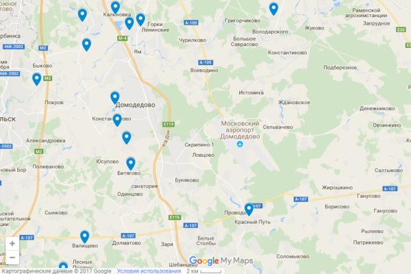Родники городского округа Домодедово