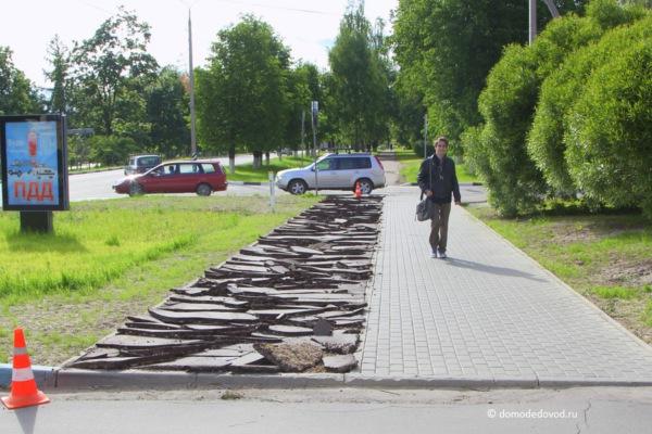 Велодорожка на улице Советской