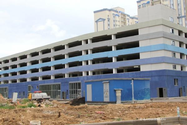 Строящийся паркинг в Новом Домодедово