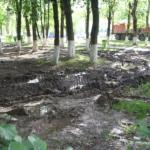 Ремонт и грязь в центре микрорайона Авиационный