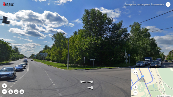 Каширское шоссе, Яндекс Панорамы