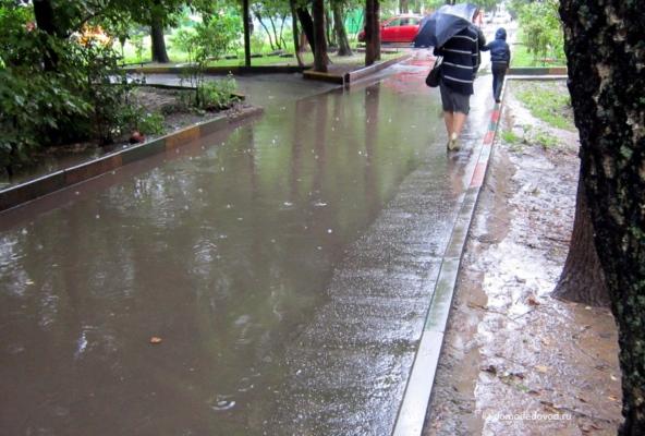 Улица Корнеева. Дворы после дождя (9)