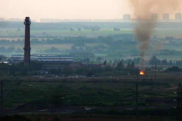 В Домодедово что-то горит