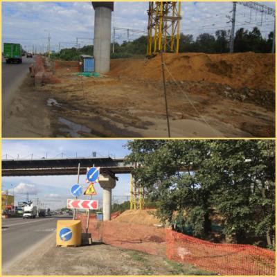 Строительную площадку путепровода в Домодедово привели в порядок