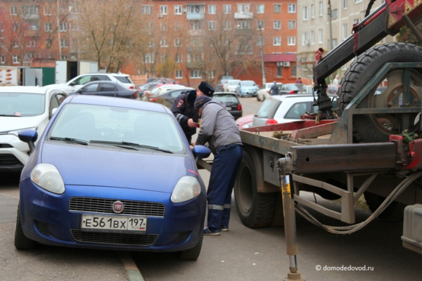 Погрузка автомобиля на эвакуатор