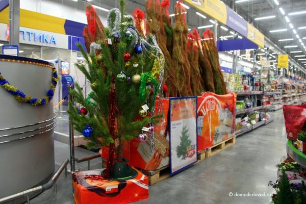 Новогодние елки в «Ленте»