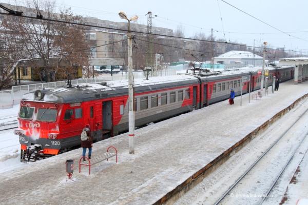 Станция Домодедово. Электричка
