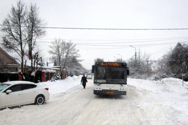 Домодедово улица Пирогова. Автобус