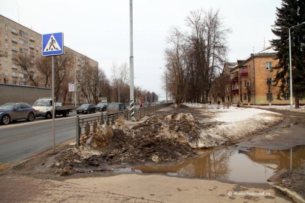 Домодедово, улица Советская и Каширское шоссе
