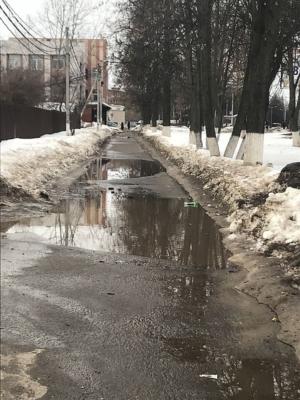 Грязь и лужи в Домодедово