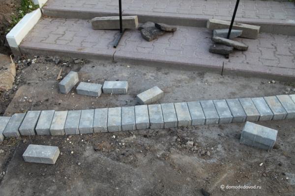 Ремонт тротуаров на Каширском шоссе