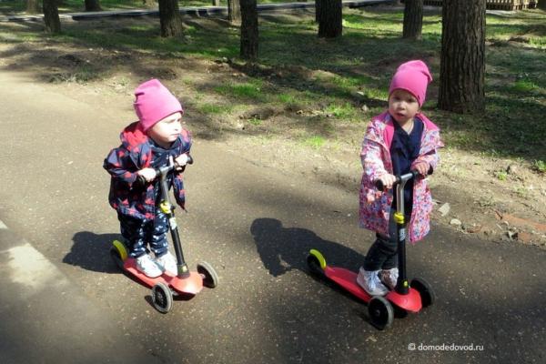 Девчонки в парке «Елочки»