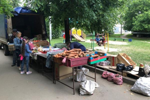 Незаконная торговля в Домодедово