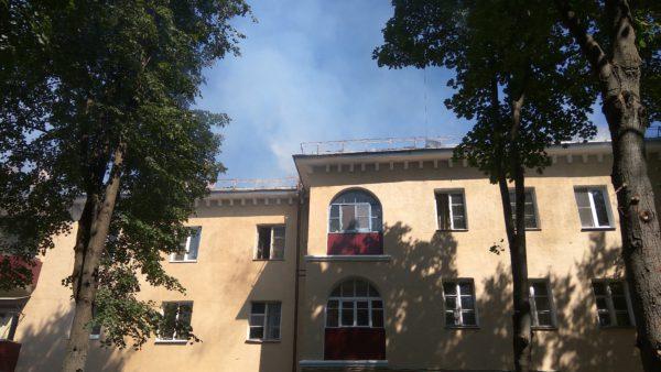 Пожар в здании паспортного стола