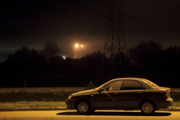 Дым над городом Домодедово
