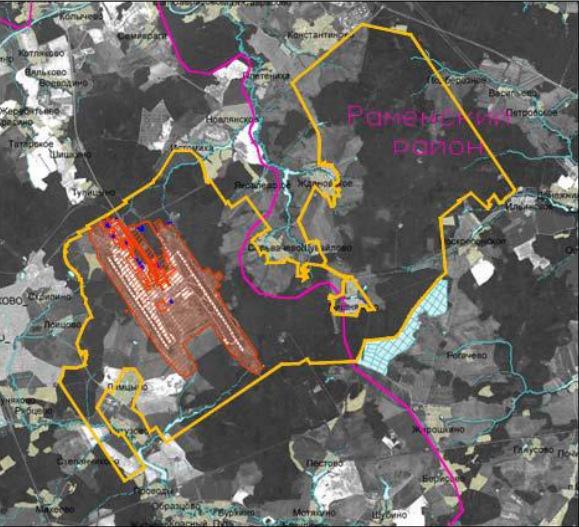 Зарезервированные земли под аэропорт Домодедово