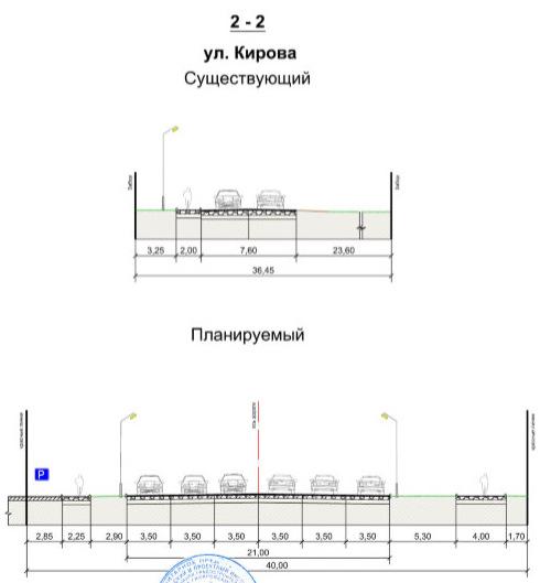 Профиль улицы Кирова