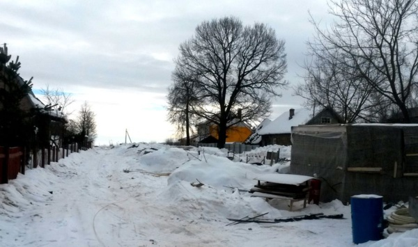 Зима. Пустой участок