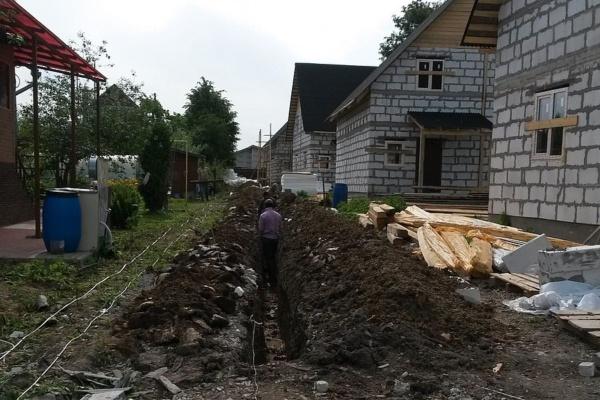 Подвод газа к домам