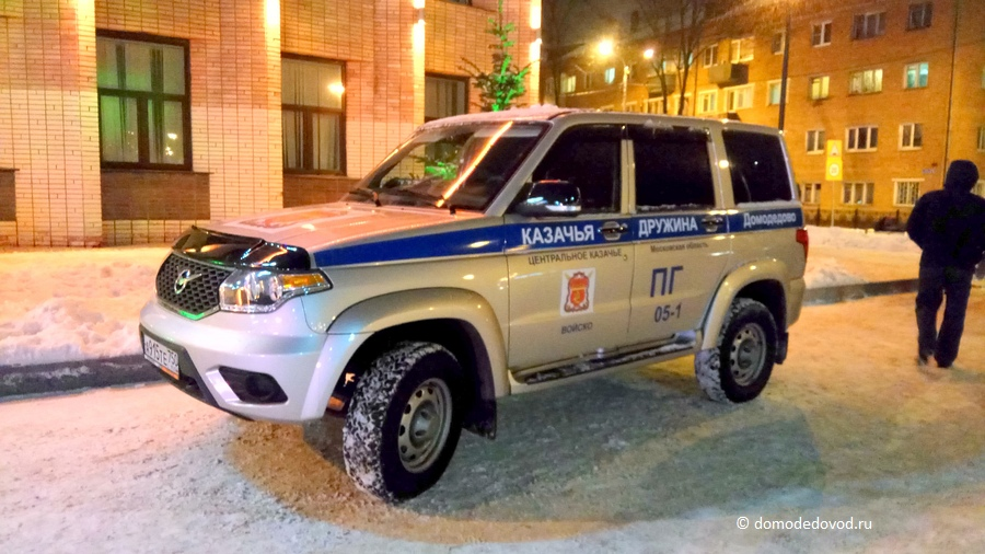 Автомобиль УАЗ Казачьей дружины в полицейском окрасе