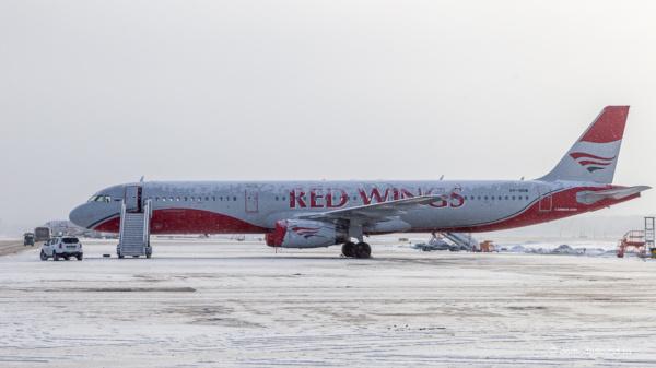 Самолет Red Wings в аэропорту Домодедово