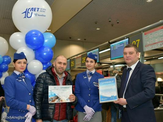 Аэропорт Домодедово поздравляет авиакомпанию NordStar с десятилетием