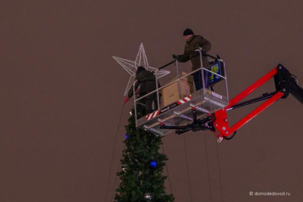 Звезда на елке в Домодедово