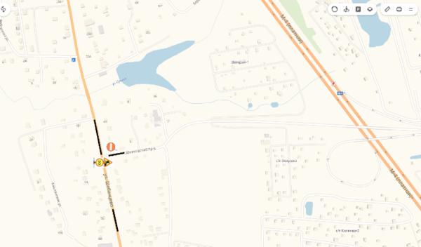 Участок дороги Каширское шоссе съезд на д. Данилово временно ограничат