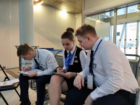 Студенты  Московии - участники чемпионата WSR в Санкт-Петербурге